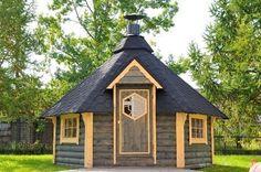 Grillkota BBQ Hut Timber Log Cabin / Summer House / Garden Office, Shed