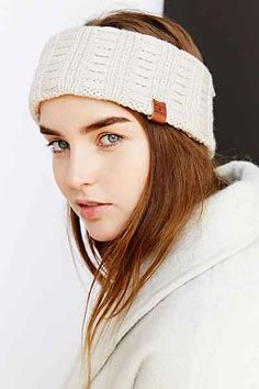 Bickley + Mitchell X UO Pointelle Sherpa Ear Warmer - Urban Outfitters. Love a little Turban as indoor or outer wear.