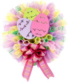 Nicole™ Crafts Puffy Spring Deco Mesh Wreath #easter #craft #decomesh #wreath
