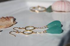 Huahine Sea Green earrings by ParadiseBungalow on Etsy, $36.00