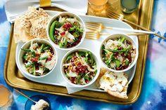 Grain salad with flatbread