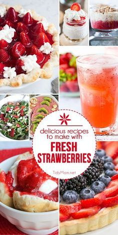 Did you know that May is National Strawberry month? There are so many Delicious Recipes with Fresh Strawberries for you to celebrate all month and summer long at TidyMom.net