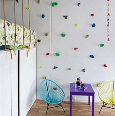 Colorful Indoor Climbing Wall