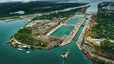 Panama Canal: Incredible Shortcut Connects Atlantic Ocean to Pacific Ocean - Classic Documentary The Panama Canal (Spanish: Canal de Panamá) is an artificial. Panama Canal, Panama City Panama, Atlantic Ocean, Pacific Ocean, Costa Rica, Isthmus Of Panama, Famous Places, Central America, Aerial View