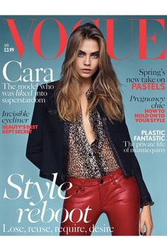 """Cara Delevingne as """"The Face"""" for Vogue UK January Delevingne by Alasdair McLellan for Vogue UK January 2014 Cara Delevingne by Alasdair McLellan…View Post Vogue Covers, Vogue Magazine Covers, Fashion Magazine Cover, Fashion Cover, Vogue Uk, Vogue Russia, Trendy Fashion, Fashion Models, High Fashion"""
