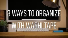 If you consider yourself an organizing guru, then we have a special tool to add to your belt. Tape. We're not talking plain scotch tape here; we mean washi tape. It can change the way you sort and use your work space, at home or at the office (or both, if you work from home). This video shows you three ways to organize using washi tape. Fortunately, washi tape comes in a variety of designs and colors, which means you can create a whole look around your workspace.