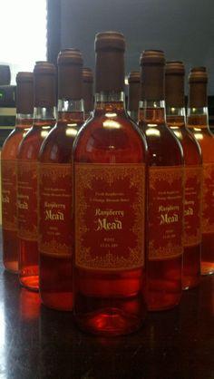 Homemade Raspberry Mead