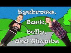 lied: Engels liedje eyebrows, back, belly etc. Wijze: hoofd schouders knie en teen
