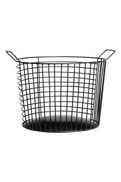 Grande cesto in filo metallico - Nero - HOME | H&M IT 1