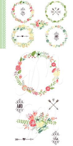 more helpful design tools for wedding design | Floral Wreaths Art and Flowers