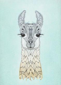 baby alpaca drawing - Google Search