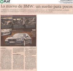 Inchcape Motors: Lanzamiento de BMW Serie 7 en el diario Gestión de Perú (31/10/16)