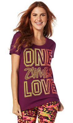 One Zumba Love Hi Lo Hem Tee [Violet Vibes]