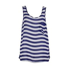 Cooper by Trelise Blue Blood Top in Royal (245 CAD) ❤ liked on Polyvore featuring tops, shirts, tank tops, blusas, tanks, summer tanks, stripe tank, loose tank top, stripe tank top and loose fitting shirts