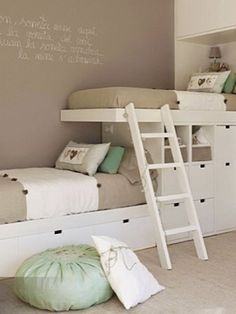 76 Cute Kids Bedroom Furniture Bunk Beds Ideas - About-Ruth Cool Bunk Beds, Bunk Beds With Stairs, Kids Bunk Beds, Small Bunk Beds, Bunk Beds For Girls Room, Bunk Beds Built In, Bunk Beds With Storage, Cubby Storage, Loft Beds