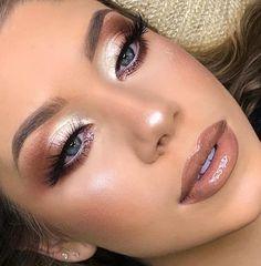 # Make-up Inspiration Christmas Makeup - Professional Makeup - Party Makeup - Wedding Makeup Bride Makeup, Wedding Hair And Makeup, Glam Makeup, Party Makeup, Skin Makeup, Makeup Inspo, Eyeshadow Makeup, Makeup Inspiration, Eyeliner