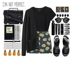 """""""not perfect"""" by tickling ❤ liked on Polyvore featuring Monki, La Garçonne Moderne, H&M, D.L. & Co., Oribe and Bobbi Brown Cosmetics"""