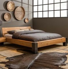 30 DIY Platform Bed You Can Make - Storage appears to be a problem with me since I'm a significant hoarder, so I'm always searching for helpful storage suggestions to continue to keep my clutter organized. This incredible DIY platform bed frame has … Bed Frame Design, Bedroom Bed Design, Bedroom Sets, Bedding Sets, Modern Bedroom, Wood Bed Design, Diy Bedroom, Modern Wood Bed, Trendy Bedroom