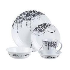 Corelle Impressions 20-pc. Dinnerware Set - Lace  sc 1 st  Pinterest & Corelle Favourite Fleur dinnerware set @macys | Pattern Inspiration ...
