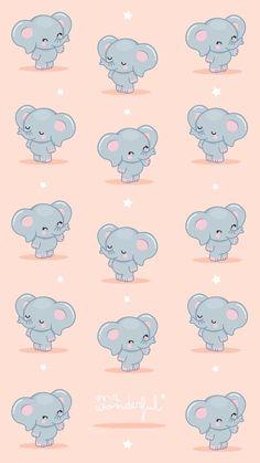 Cute Wallpaper Backgrounds, Screen Wallpaper, Cool Wallpaper, Pattern Wallpaper, Elephant Wallpaper, Animal Wallpaper, Mr Wonderful, Wallpaper Iphone Disney, Kawaii Wallpaper