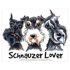 Miniature Schnauzer Lover Poster