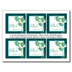 $$$ This is great for          	6 Modern Teal Peacock Wedding Favor Tags Postcard           	6 Modern Teal Peacock Wedding Favor Tags Postcard In our offer link above you will seeDeals          	6 Modern Teal Peacock Wedding Favor Tags Postcard Review on the This website by click the button be...Cleck Hot Deals >>> http://www.zazzle.com/6_modern_teal_peacock_wedding_favor_tags_postcard-239078017199988353?rf=238627982471231924&zbar=1&tc=terrest