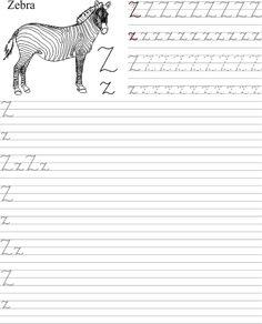 Szablon do wydrukowania pdf z nauką litery Z z