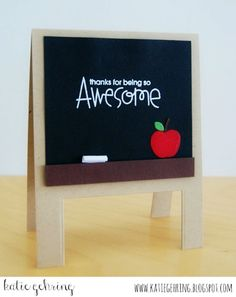 Card by SPARKS DT Katie Gehring PS stamp set: Uplifters; PS dies: Quote Tag, School Icons