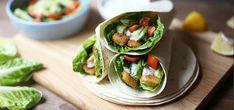 Kjøp Fiskepinner i wraps på Kolonial. Tacos, Wraps, Mexican, Ethnic Recipes, Food, Drink, Beverage, Drinking, Meals