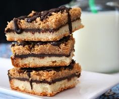 Samoa Bars (Low Carb & Gluten Free).  If these taste anything like the Girl Scout cookies I will be in heaven!!