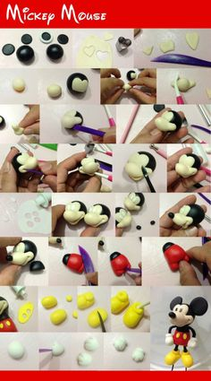 Let's try Kids ! Simple steps to make Micky mouse With clay.  #toys #Howto #DIY #kidscrafts #claycrafts
