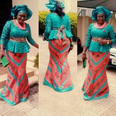 Fab Aso Ebi Skirt and Blouse Styles You Can Rock to Weddings in 2018