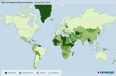 Weltkarte: Wie schwierig ist es, ein Land vom Internet abzuschneiden? - Engadget German