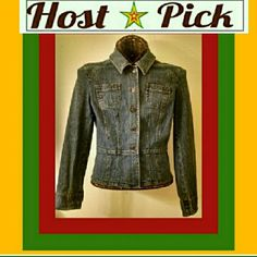 """""""THE PERFECT FIT..."""" The perfect fit...for someone else. I adore this jacket but it's just too big for me. :( vintage fitted denim jacket. No pockets. Feel free to make an offer!! Bundles of 2 or more items are 20% off! LOFT Jackets & Coats Jean Jackets"""