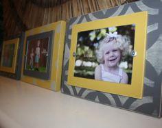 Distressed Picture Frames Aqua 5x7 Frame by WestAshleyWallArt