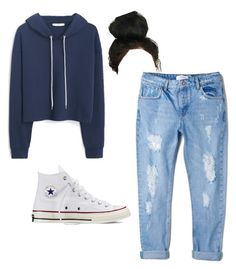 """Mondays"" by bigredbriklyn on Polyvore featuring MANGO and Converse"