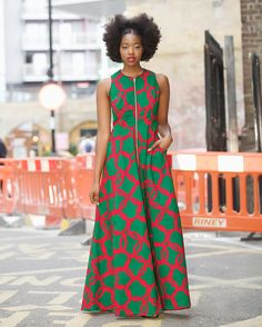 Maria maxi dress in Green