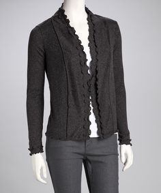Charcoal Frill Cardigan  LOVE THIS!