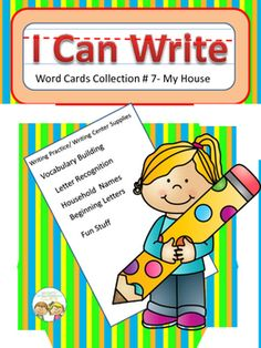The possibilities are endless with this 26 card set of cards. Each card has a picture plus the written word. Students can use them to build the connection between written and spoken words. Cards can be used to build letter recognition and  writing skills.
