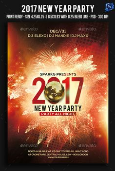 buy 2017 new year party flyer by sparkg on graphicriver new year party flyer its unique flyers poster design for your business advertisement purpose