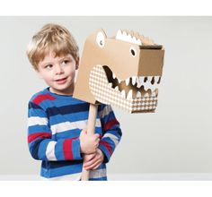 Little Roar Head - Natural    The Little Roar Head takes the broom out of the home and into a fantastical new world. Go riding on a dinosaur through the swamps or take over a knights castle on your fierce dragon. Also look super cool decorated and wall mounted.    100% Recyclable Cardboard