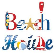 Millionaire Beach House- L. Beach House Signs, Beach House Decor, Beachy Signs, Nautical Prints, Beach Cottages, Beach Houses, Guest Towels, Beach Crafts, Beach Scenes