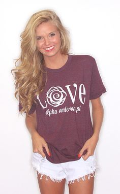 Alpha omicron pi on pinterest sorority bid day and for American apparel sorority shirts