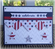 June 2014 Paper Pumpkin Kit Alternative project. Celebrate the 4th of July Stampin' Up! Style! Details on my blog @ www.midmostamping.com