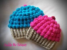 Crocheting: Yummy CupCake Beanie Pattern