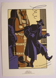 Blake en Mortimer - 4 Zeefdrukken Guinea Pig - E. P. Jacobs - (1991) - W.B.