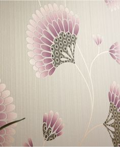 Charm: Purple Wallpaper from www.grahambrown.com