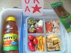Wow do I fall short on this...Mom took pictures of all of her kid's school lunches - must be over 100 ideas! very cool!