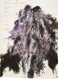 Cy Twombly, Untitled. Acrylic and tempera on paper mounted on wooden pane, 1989