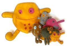Merino Monsters by Oscar - Handmade, Knitted, Felted and Hand-Embroidered Monster Softies | KID independent – handmade for kids